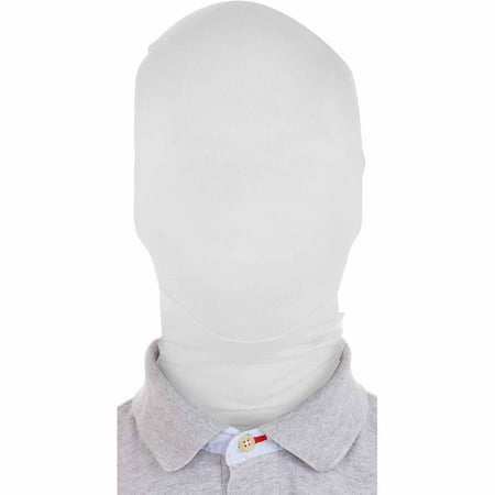 Original Morphsuits Solid White Morph Mask Costume Mask Hood One Size