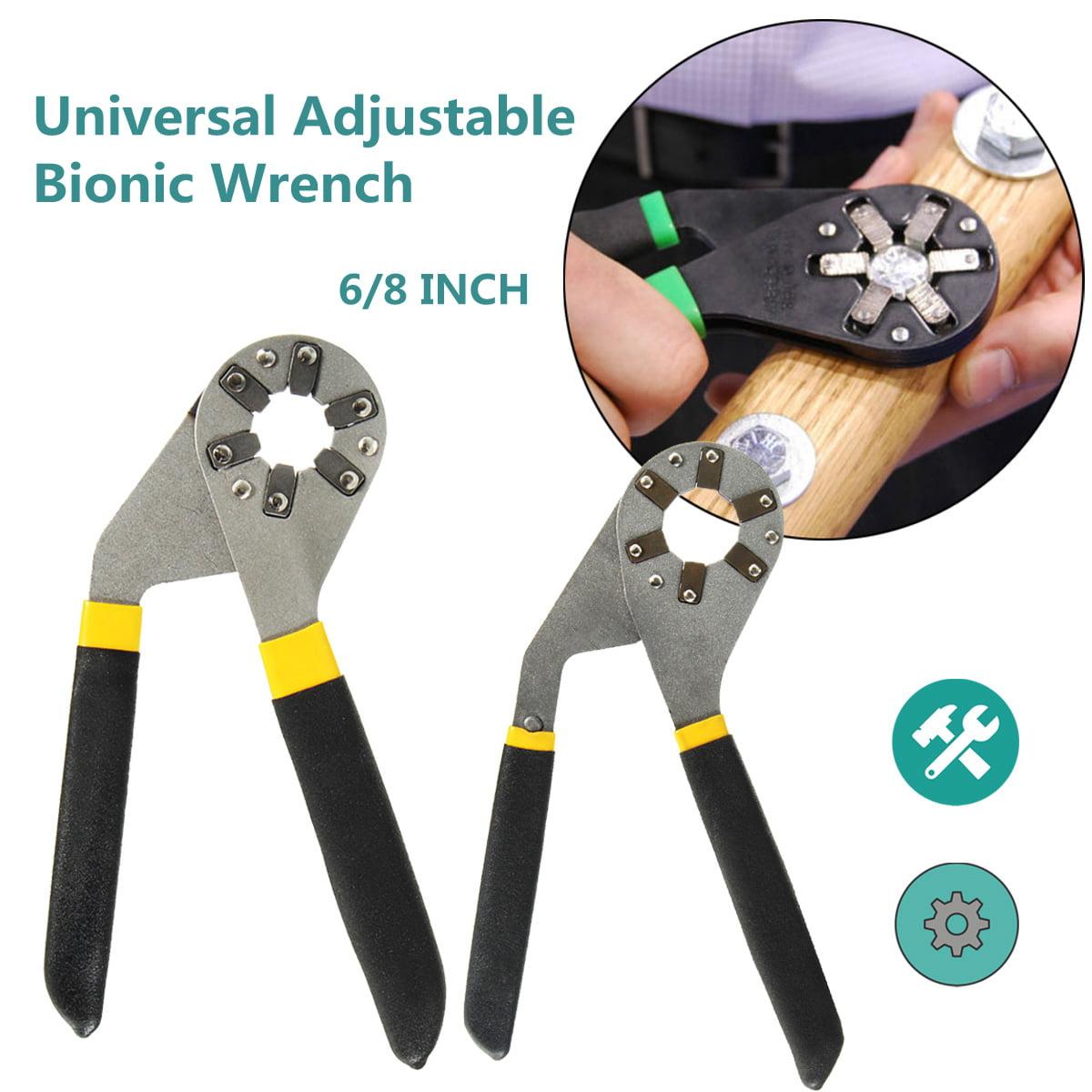 Grtsunsea 6/8 inch Adjustable Hexagon Universal Quick Magic Wrench Adjustable Plier