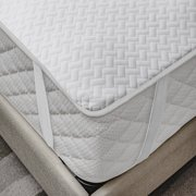 Mattress Protector Breathable Sheet with Straps Fitted Bed Cover, by Ambesonne