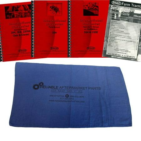 Case International Repair Manual - New Tractor Manual Kit For Case IH International Harvester 354 364 2300A