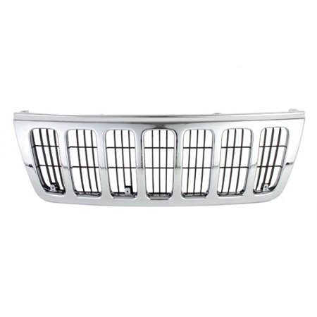 , Chrome Grille Outer Frame Front Assembly w/Matte Black Insert Body Part, 400-26102 CH1200234 CH1200234?, Replacing the old or broken grille to restore.., By CarPartsDepot