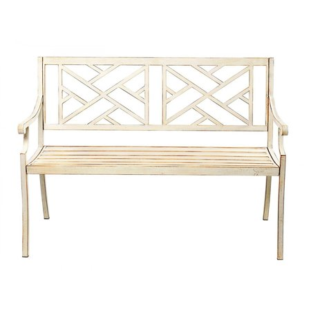 48 Inch Patio Garden Bench Park Yard Outdoor Furniture Steel Frame Chair Seat