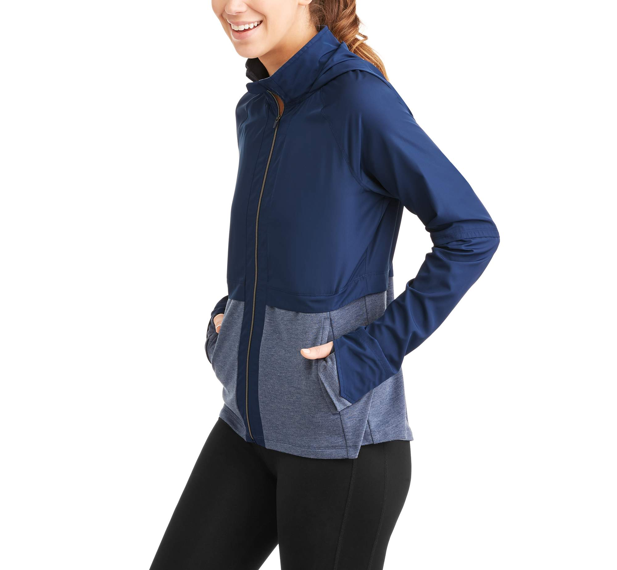Women's Core Active Wind Jacket with Packable Hood
