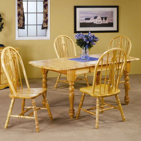Sunset Trading 5-Piece Drop Leaf Extension Dining Set with Keyhole Chairs