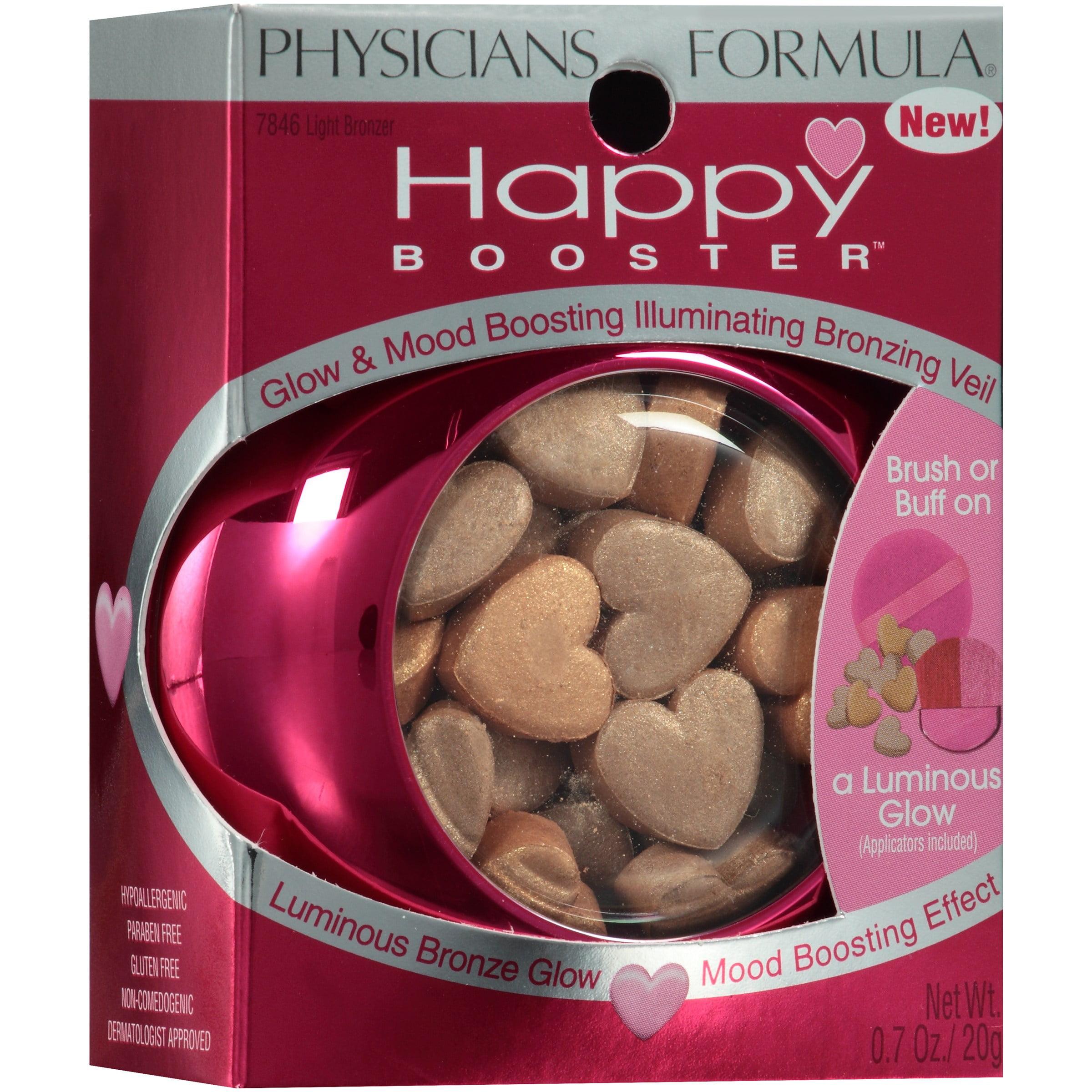 Physicians Formula Happy Booster 2 Light Bronzer Glow & Mood Boosting Illuminating Bronzing Veil 0.7 oz. Box