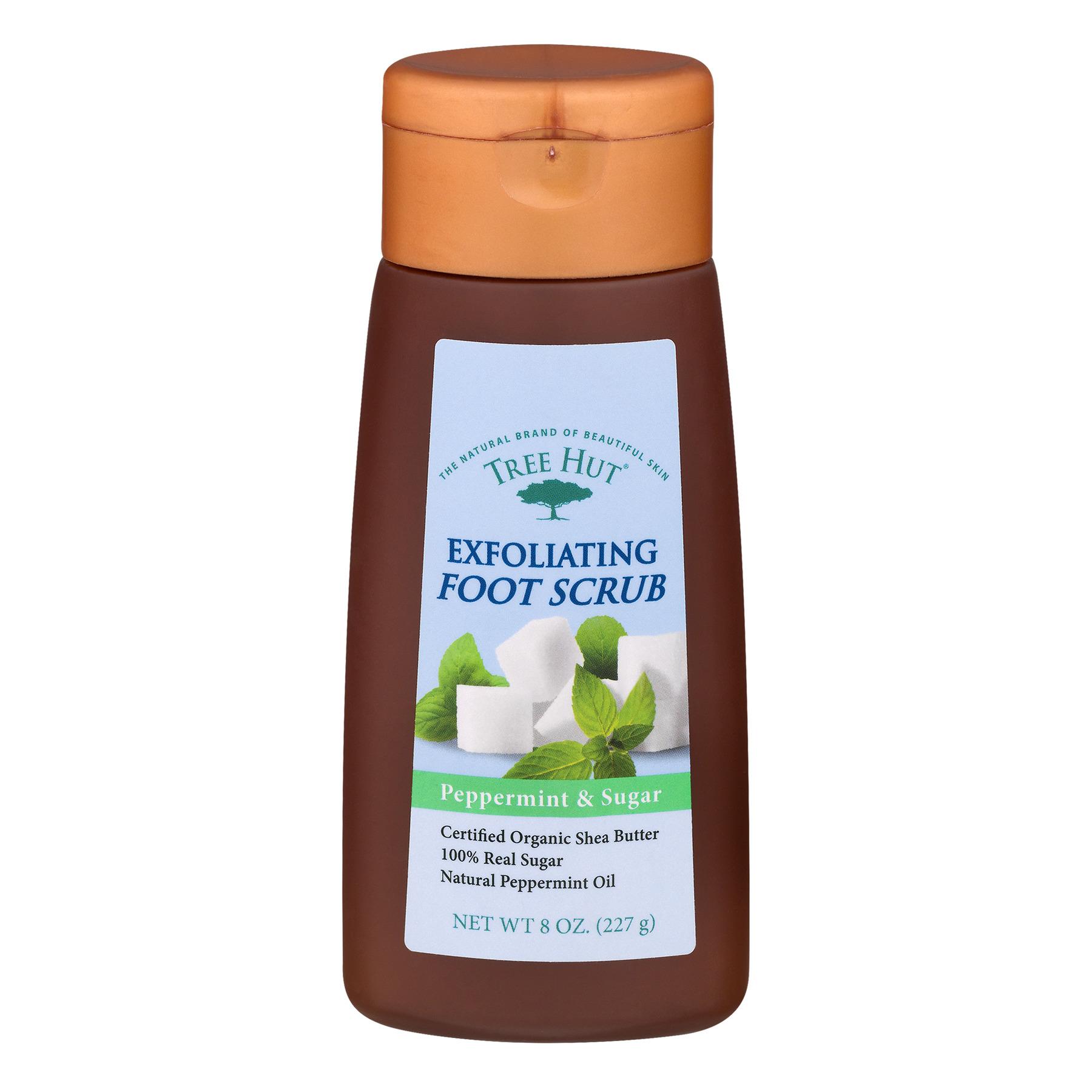 Tree Hut Peppermint & Sugar Exfoliating Foot Scrub, 8 Oz