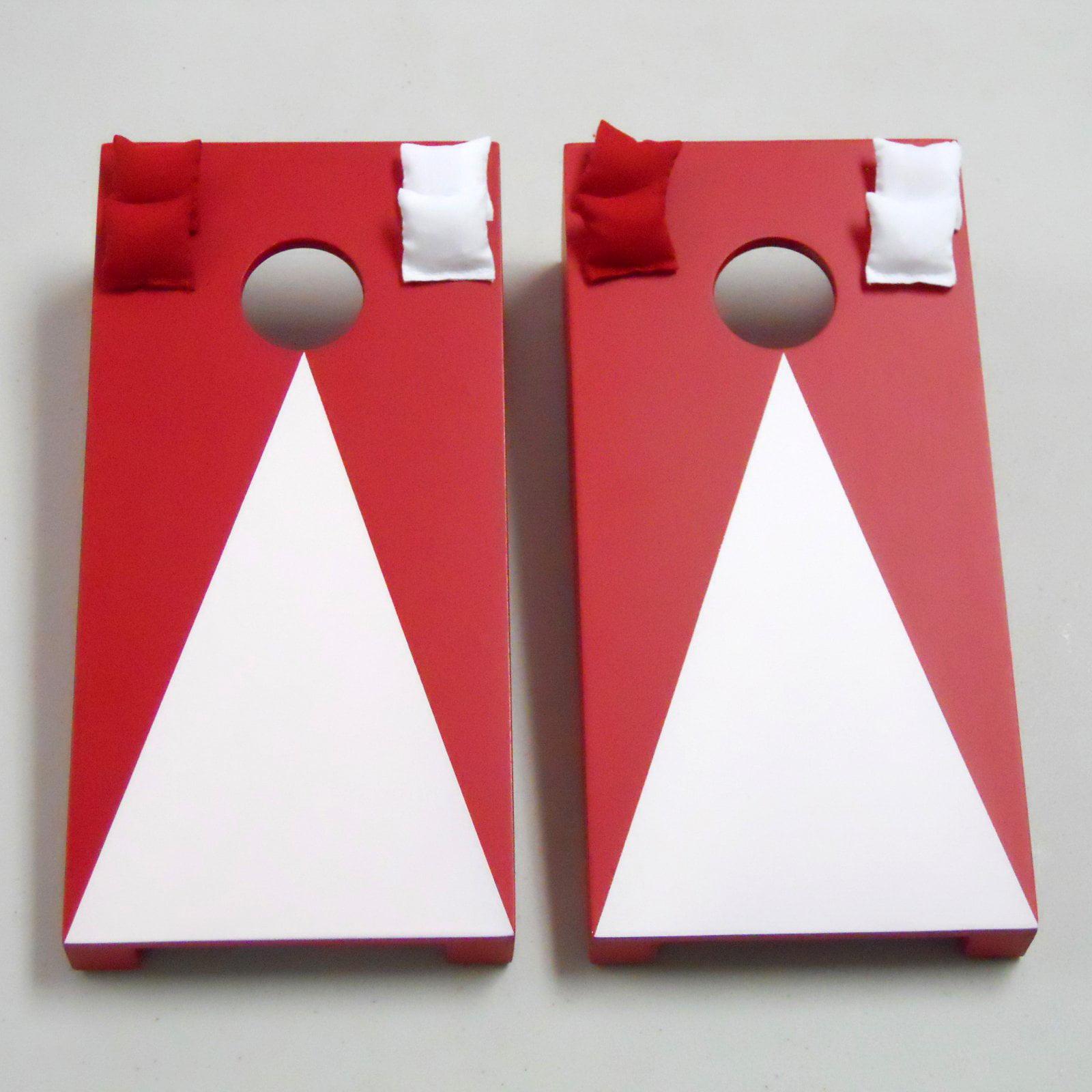Red Pyramid Tabletop Cornhole Set by AJJ Cornhole