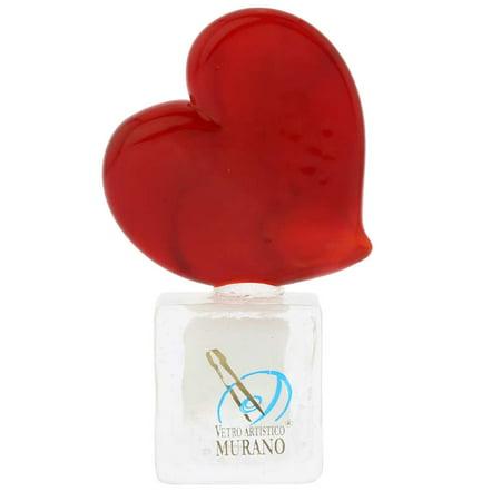 GlassOfVenice Murano Glass Red Heart On Ice