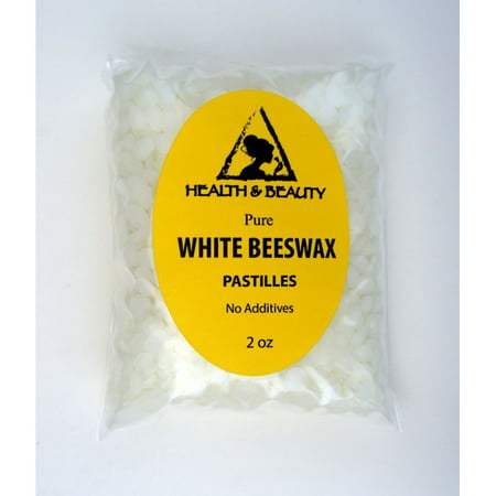 WHITE BEESWAX BEES WAX ORGANIC PASTILLES BEARDS PREMIUM 100% PURE 2 OZ