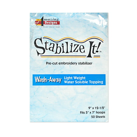 Pre Designed Half Tips - Amazing Designs Stabilize It Wash Away Pre-cut embroidery Stabilizer 9 in x 12 1/2 in