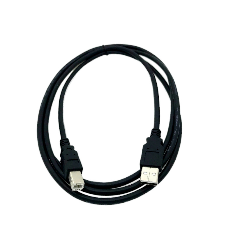Kentek 6 Feet FT USB 2.0 A TO B High-Speed Printer Scanner Copier Cable Cord For HP CANON EPSON LEXMARK Black