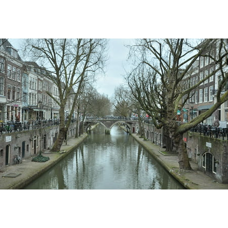 Peel-n-Stick Poster of City Canal Street Travel Amsterdam Netherlands Poster 24x16 Adhesive Sticker Poster Print - Halloween City Amsterdam Ny