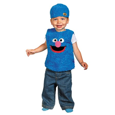 Sesame Street Infant Toddler Boy Girl Plush Blue Grover Costume with Hat 12-18m - Infant Sesame Street Costumes