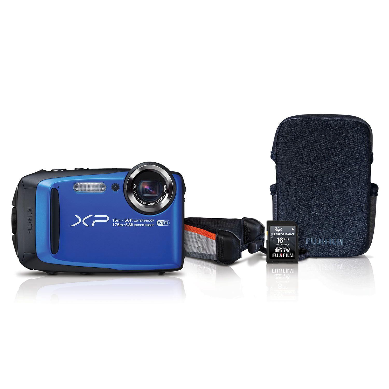 Fuji XP90 Waterproof Digital Camera (Blue) - Internationa...