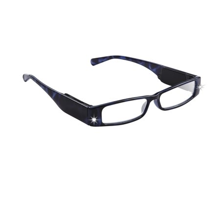 LightSpecs LightPipe Reading Glasses with LED Lights, Inna +2.50 Power - Glasses With Led