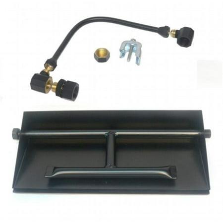 - 15 in. 14GA Powder Coated Dual Burner Pan Kit, Liquid Propane
