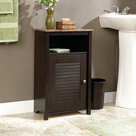 - Sauder Peppercorn Floor Cabinet, Cinnamon Cherry