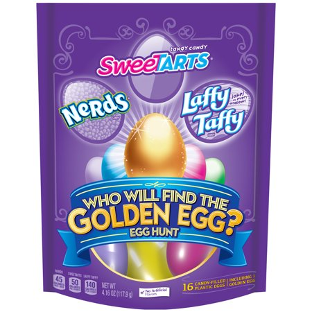 SweeTARTS Laffy Taffy, Nerds, Egg Hunt with a Golden Egg, 4.16 Oz., 16 Count