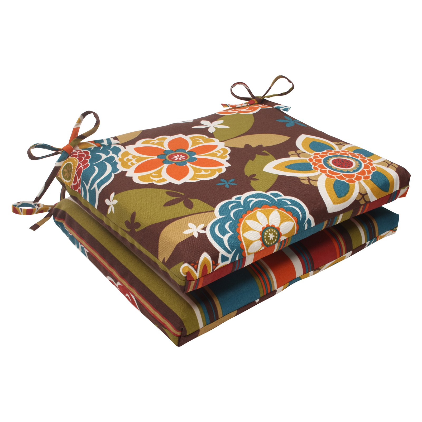 Pillow Perfect Westport Annie Reversible Rectangle Seat Cushion - Set of 2