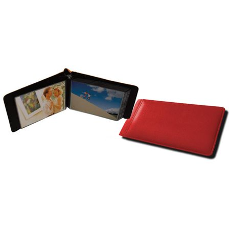 Raika RO 136 RED 4in. x 6in. Single Sheet Page Mini Photo Album - Red