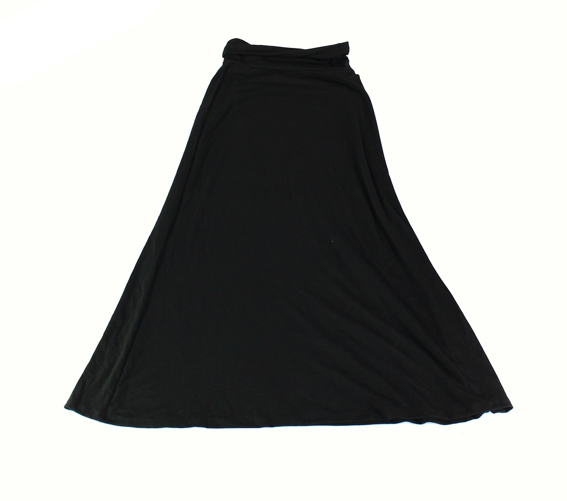 bff369690d3c1 Lily White NEW Black Womens Size XS Pull On Fold Over Stretch Knit Skirt 345