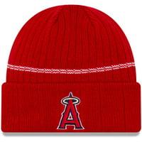 Los Angeles Angels New Era Primary Logo On-Field Sport Cuffed Knit Hat - Red - OSFA