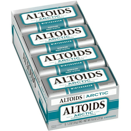 Image of Altoids Arctic Mints, 1.2 oz Tin (Pack of 8), Multiple Flavors Available