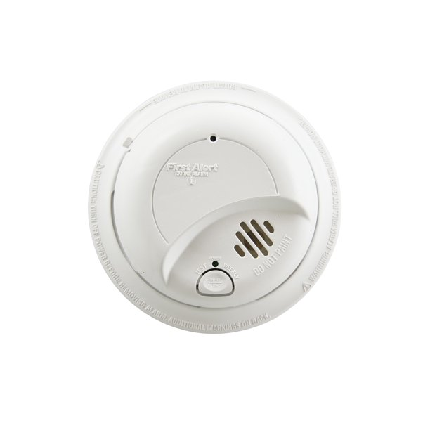 First Alert Sa9120bpcn Hardwired 120 Volt Ac Smoke Detector With