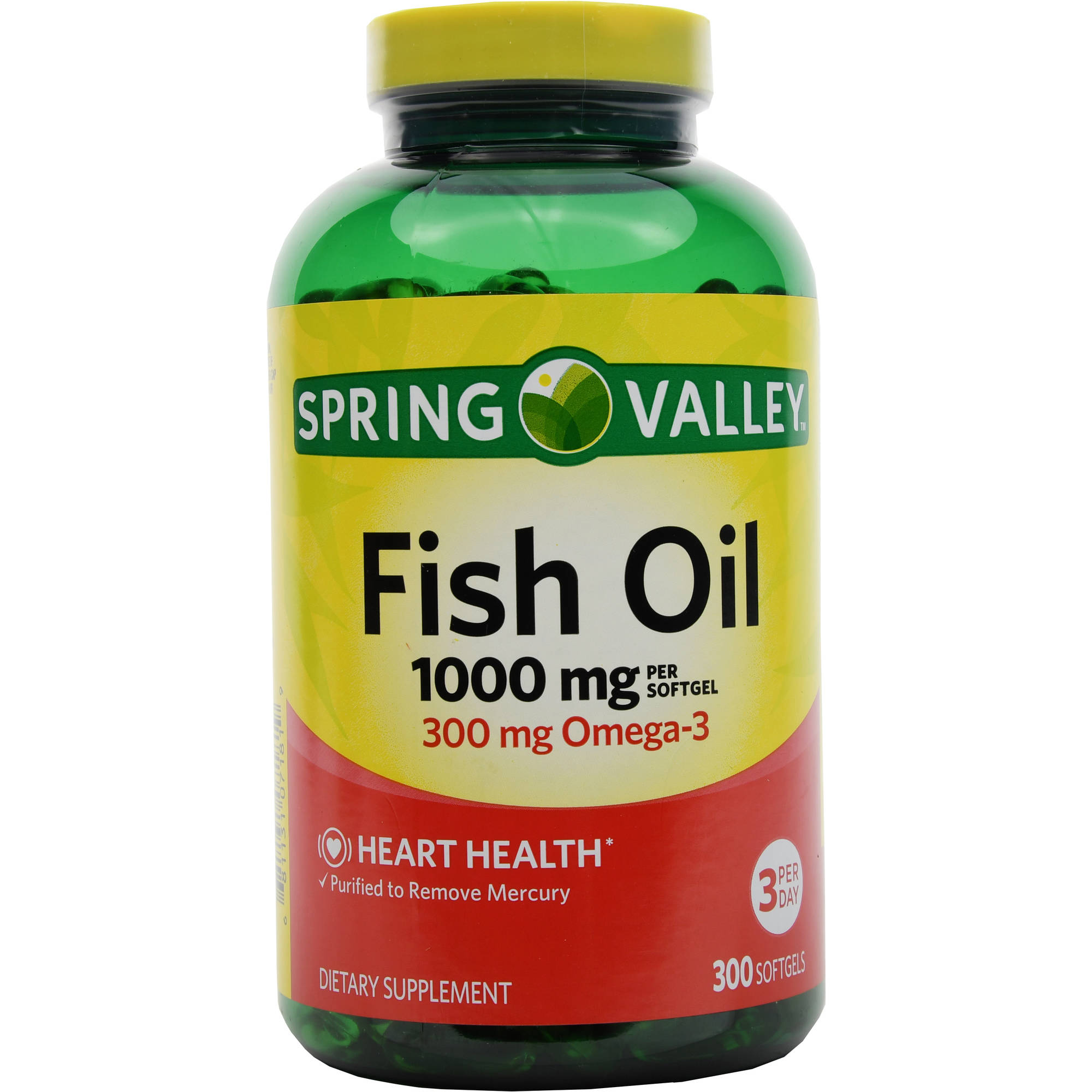 Spring Valley Fish Oil Dietary Supplement, 1000mg, 300 count
