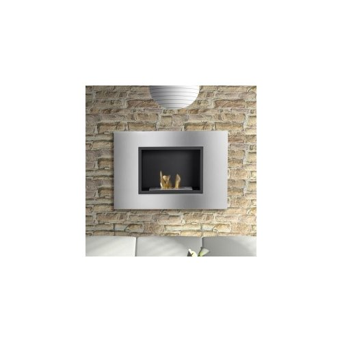 Ignis Products Quadra Recessed Ventless Wall Mount Ethanol Fireplace