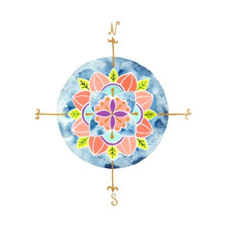 Blue Mandala I Print Wall Art By Rebekah