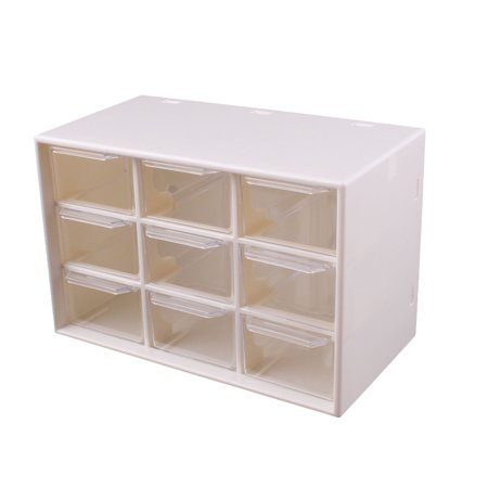 9 Inch Single Compartment Plastic Container - 9 compartment Cabinet Craft Drawer Multi-Boxes Box Container Storage