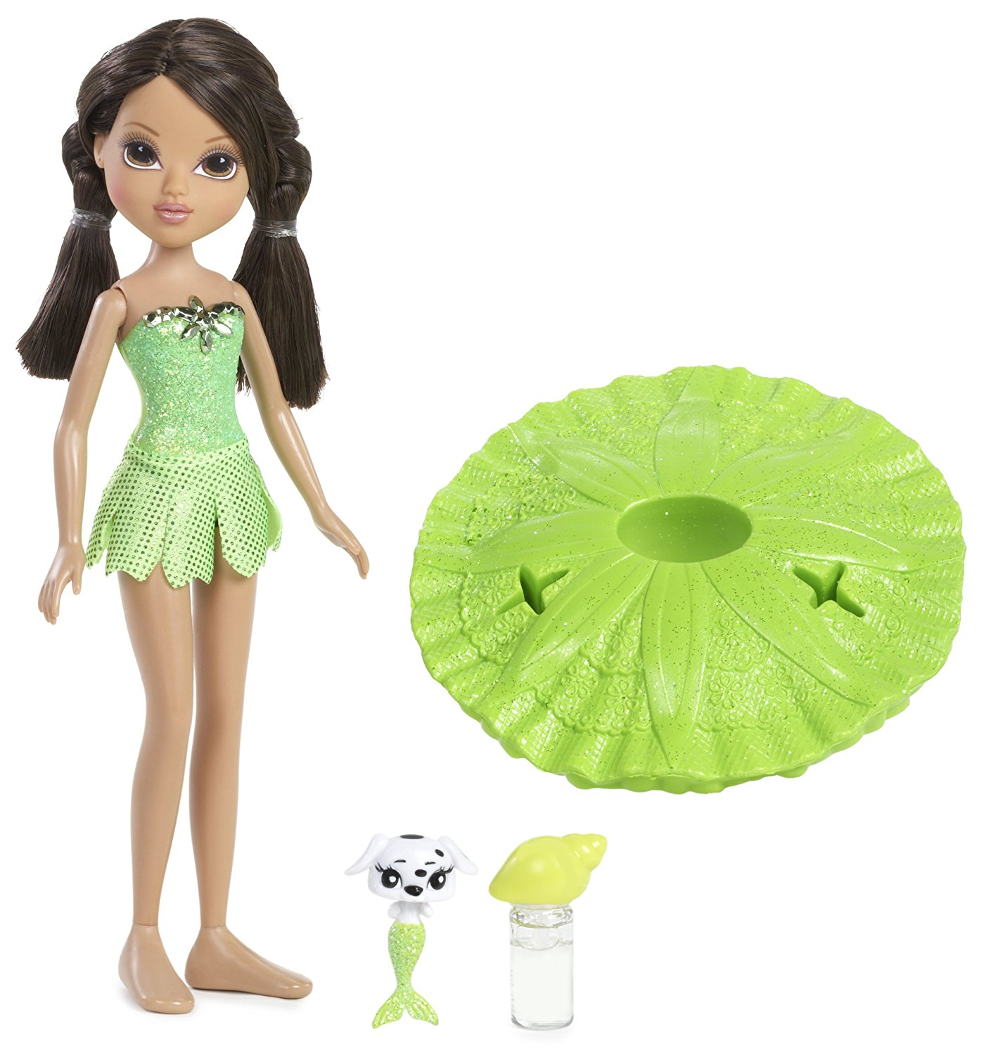 Bubble Bath Surprise - Sophina, Painted sparkling bathing suit outfit with cute petal skirt By Moxie Girlz
