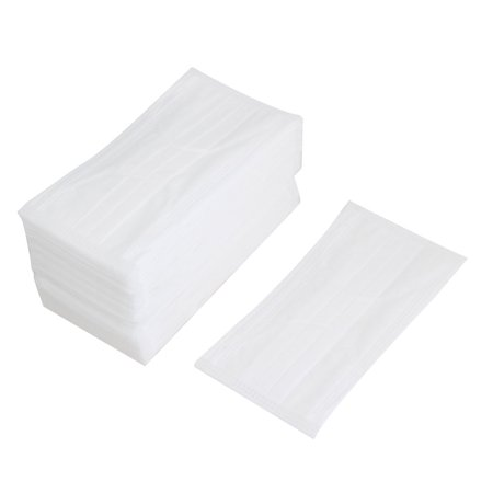 Unique Bargains 50 Pcs Replaceable White Stretchy Ear Loop Medicinal Disposable Face Mask (Catwoman Mask And Ears Costume)