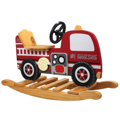 Fire Engine Rocking Horse - Trains and Trucks Room Collection