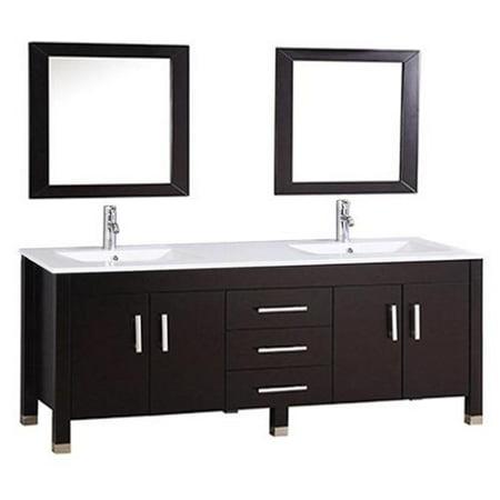 Mtd Vanities Monaco 71 Inch Double Sink Bathroom Vanity