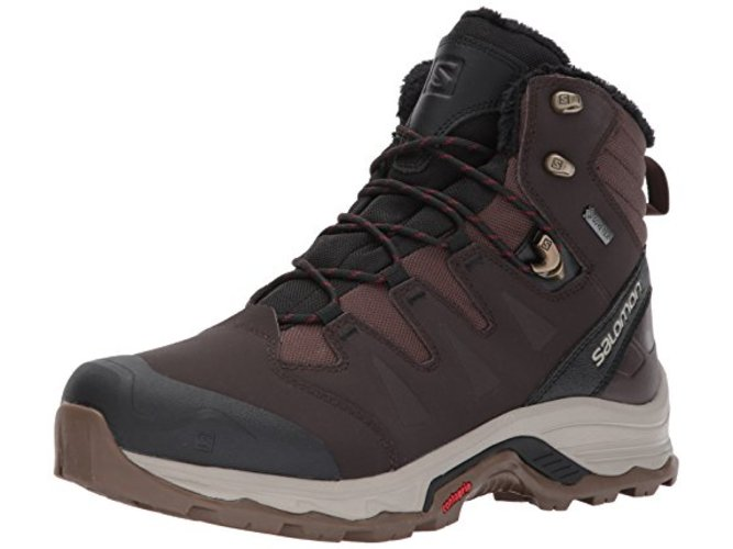Salomon Salomon Mens Quest Winter Gtx Fabric Cap Toe Ankle Cold Weather Boots