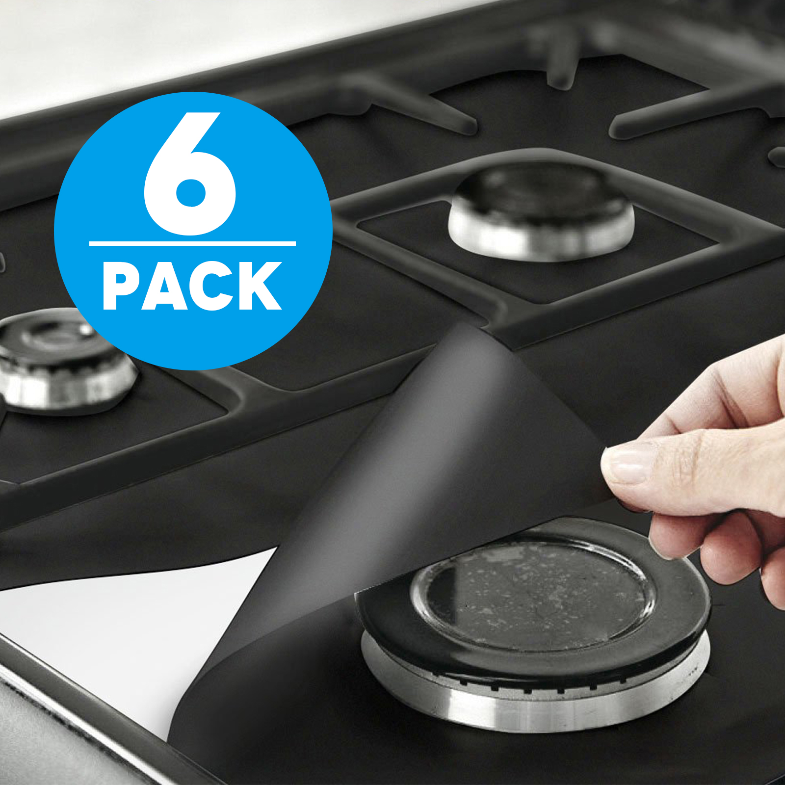 Gas range burner Gas Chula Gas Range Protectors Tsv Liner Covers Reusable Gas Stove Burner Covers 106 106 Double Thickness 02mm Nonstick Fast Clean 6 Packs Walmart Walmart Gas Range Protectors Tsv Liner Covers Reusable Gas Stove Burner