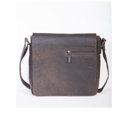Distressed leather brief laptop compatable