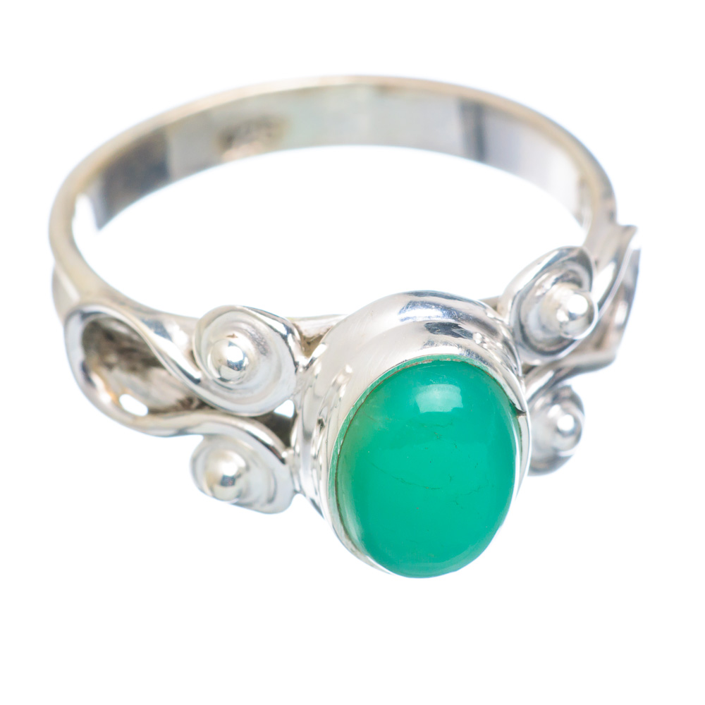 Ana Silver Co Chrysoprase Ring Size 6 (925 Sterling Silver) Handmade Jewelry RING855650 by Ana Silver Co.