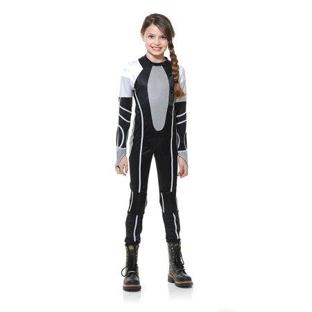 Child Girl Hunger Survivor Jumpsuit Costume by Charades 641 00641](Survivor Costume)
