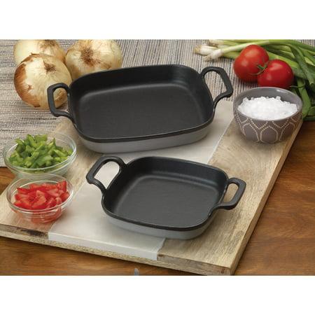 Bayou Classic Grey Cast Iron 6-inch Enameled Baking Dish Bayou Classic Turkey Rack