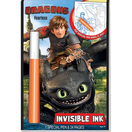 Dragons Fearless Invisible Ink Pen & Book (Invisible Ink Book)