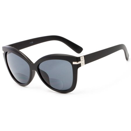 Readers.com The Ophelia Bifocal Sun Reader Thick-Framed Oversized Reading Sunglass with