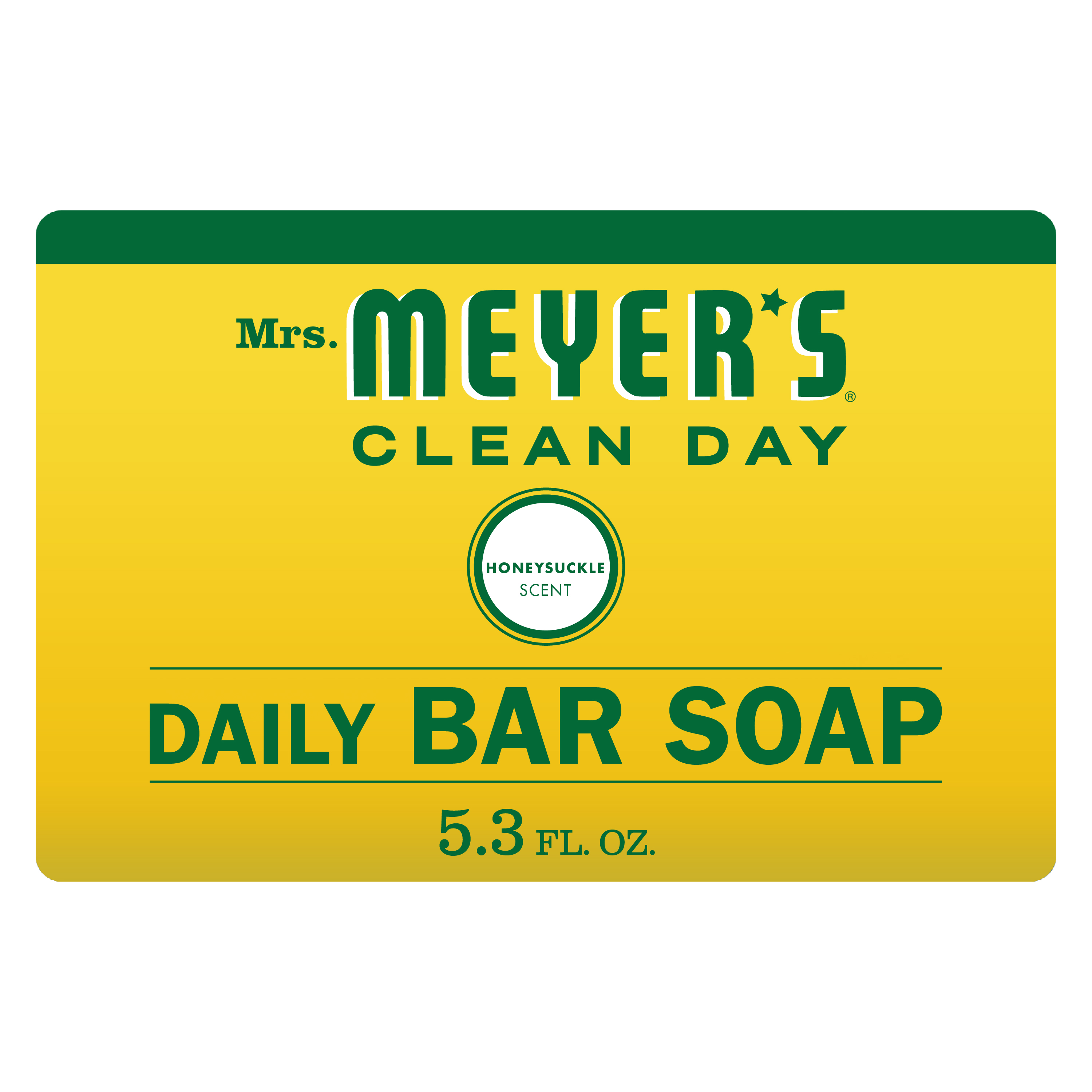 (3 pack) Mrs. Meyer's Clean Day Daily Bar Soap, Honeysuckle, 5.3 oz