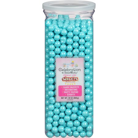 Sweetworks Celebrations Shimmer Powder Blue Candy Sixlets Jar, 30 Oz.](Signets Halloween)