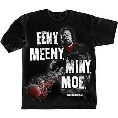 Moe Szyslak (The Walking Dead Eeny Meeny Miny Moe Negan Lucille Rick Grimes T Shirt S-3Xl)