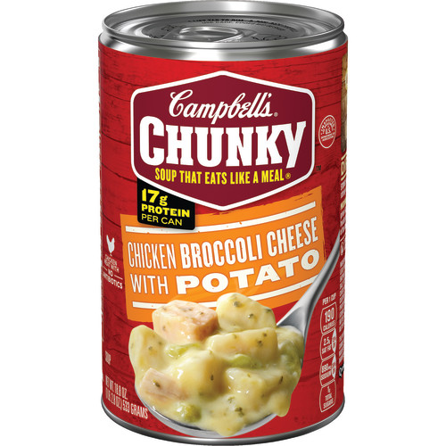 Campbell's Chunky Chicken Broccoli Cheese with Potato Soup, 18.8 oz.