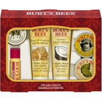 Burt's Bees Tips and Toes Kit Holiday Gift Set, 6 pk
