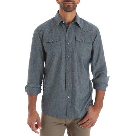 Wrangler Big men's long sleeve western snap shirt
